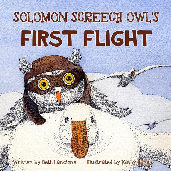 Solomon Screech Owl's First Flight