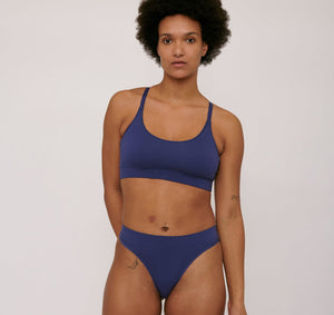 Organic Cotton Basic Bra Cobalt