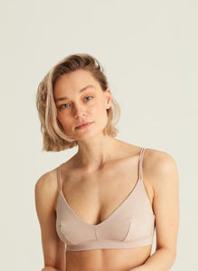 NIEUW Organic Cotton Soft-Bra Core Triangle - Nude