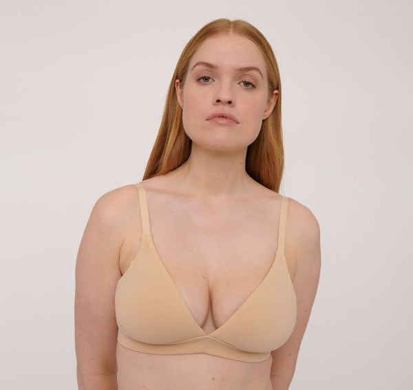 Organic Cotton Triangle Bra Oak