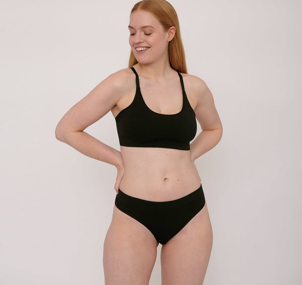Organic Cotton Basic Bra Black