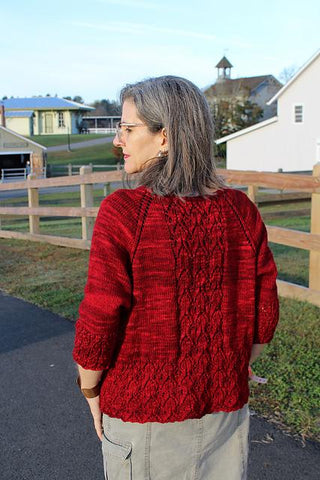 Springbrook sweater pattern (printed or PDF download)