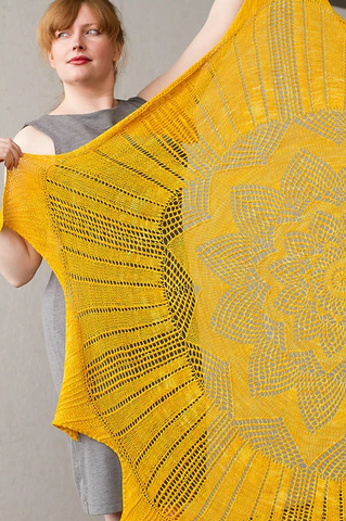 Ra and Apep Shawl (pdf download)