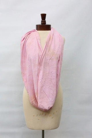 Hand dyed cotton jersey infinity scarf C20