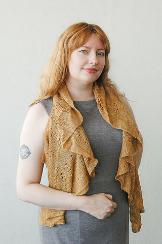 Egyptian Gold shawl (PDF download)