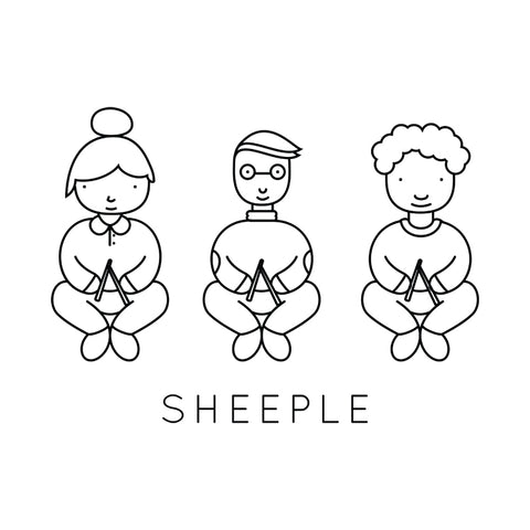 Sheeple shirt (new orders will restart after Rhinebeck)