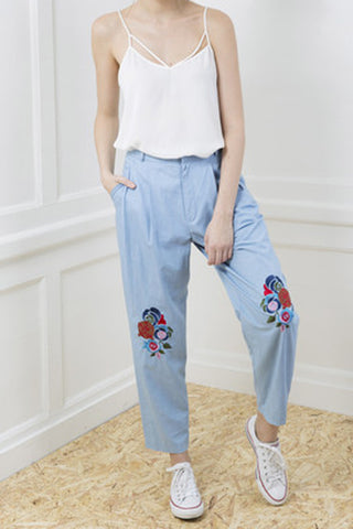Embroided Patch Trousers