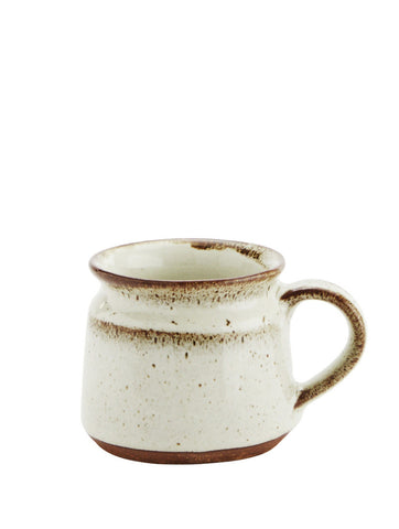 Off White/brown Ceramic Cup