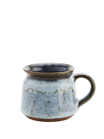 Light Blue/brown Ceramic Cup