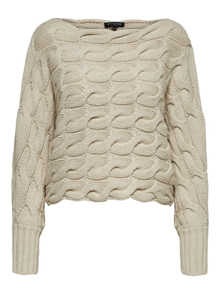 Carma Cable Knit Jumper Sandshell