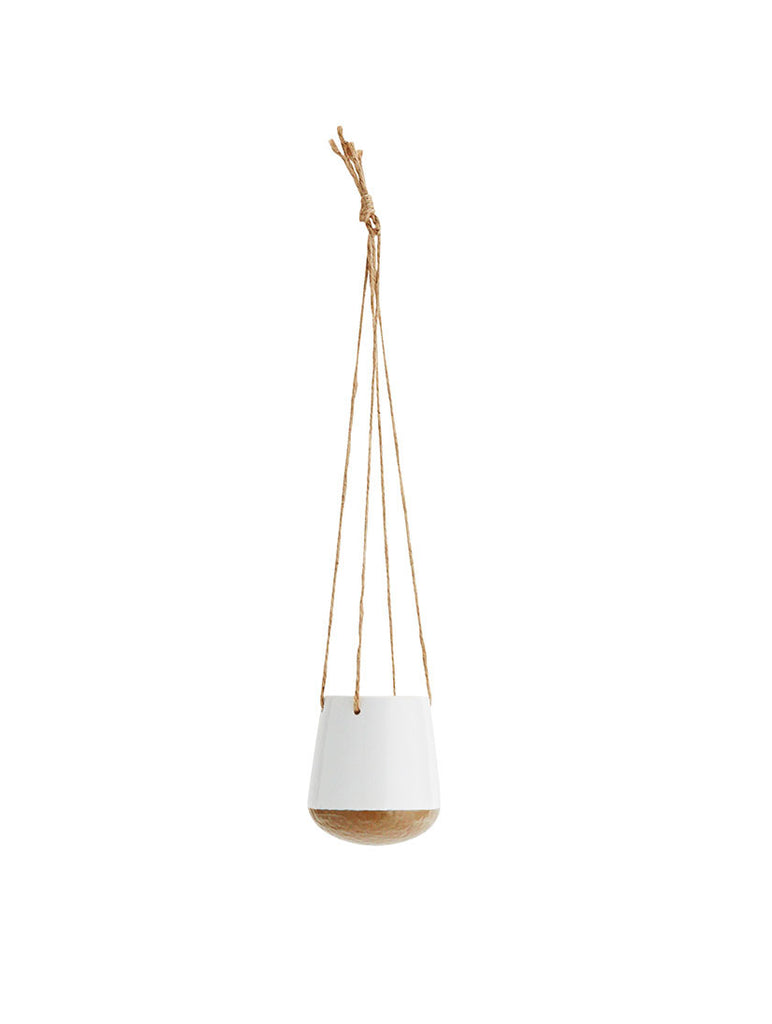 Hanging Pot White/Brown