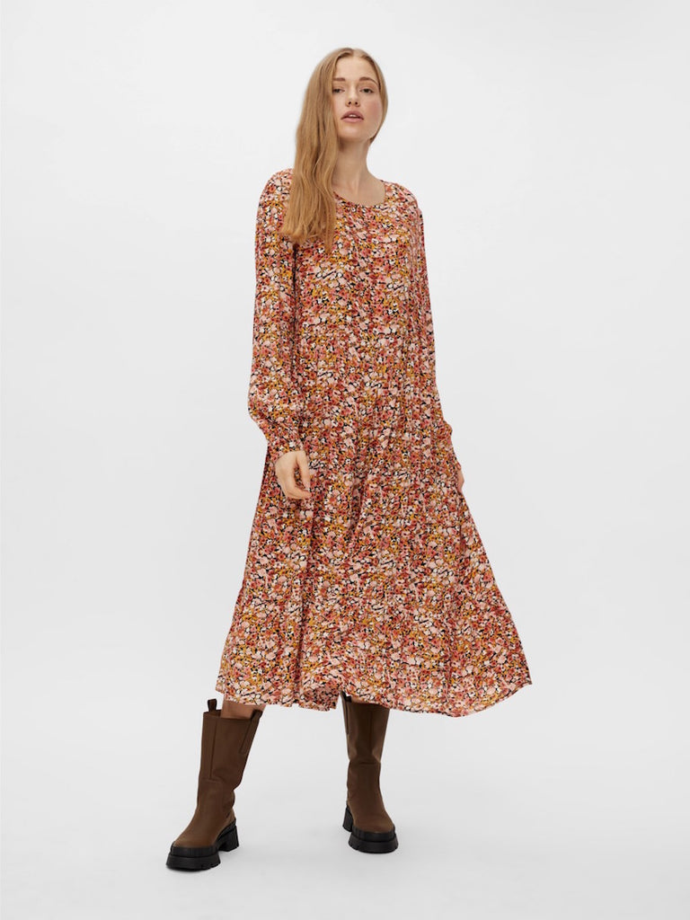 Leona Long Sleeve Midi Dress