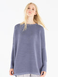 Ribbed Jumper With Side Splits Blue
