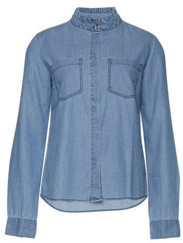 Storie Bright Blue Denim Shirt