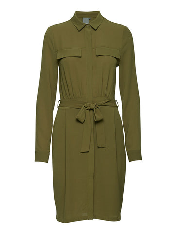 Bolivia Khaki Shirt Dress