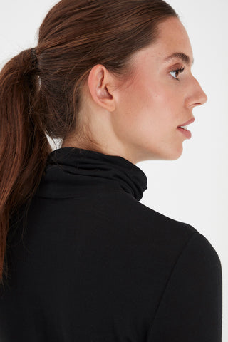 Philuca Long Sleeve Roll Neck Black