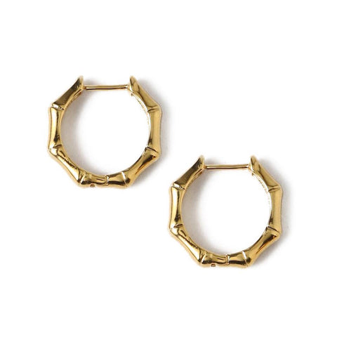 Bamboo Small Hoops