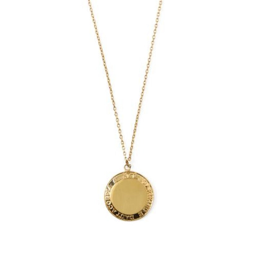 Grecian Coin Ditsy Necklace