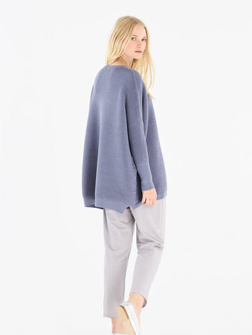 Ribbed Paisie Jumper Blue