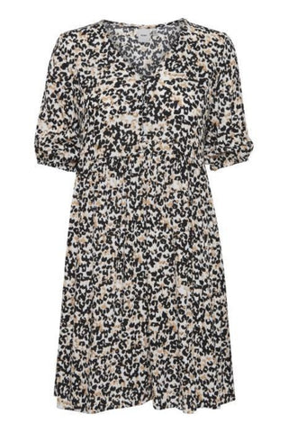 Marrakech Print Dress Tan