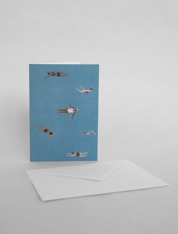 Swimmers Greeting Card