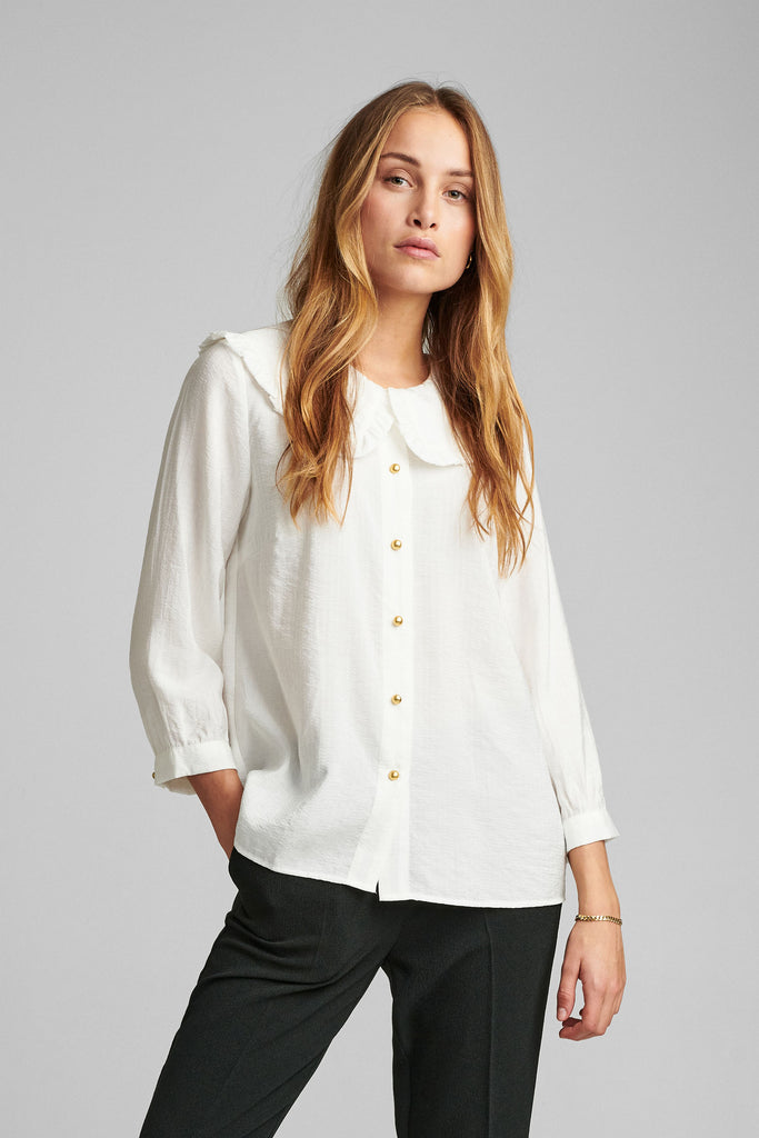Bianca Collar Shirt White