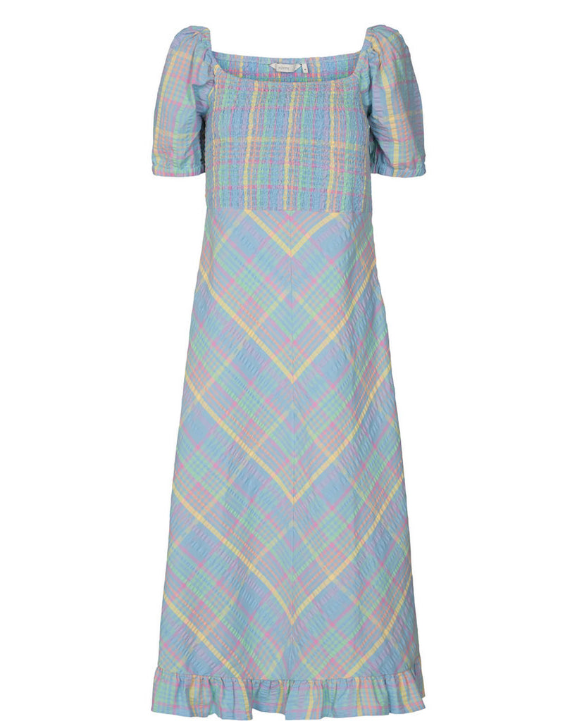 Checky Dress Multi Pastel