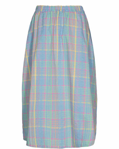 Checky Skirt Multi Pastel