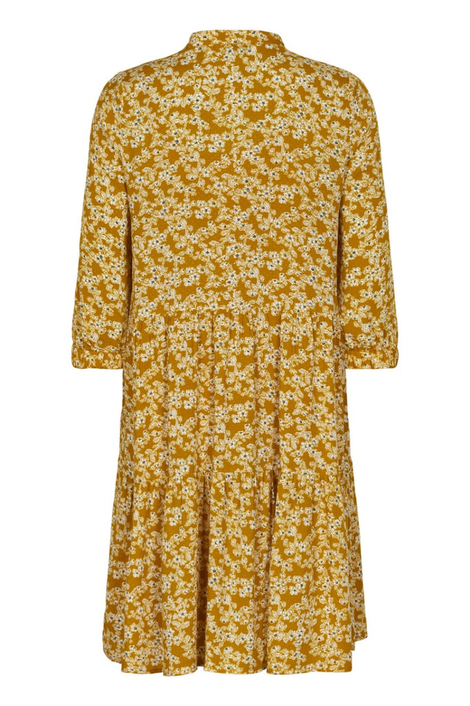 Bijou Floral Smock Dress Buck Brown