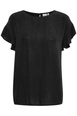Marrakech Short Sleeve Top Black