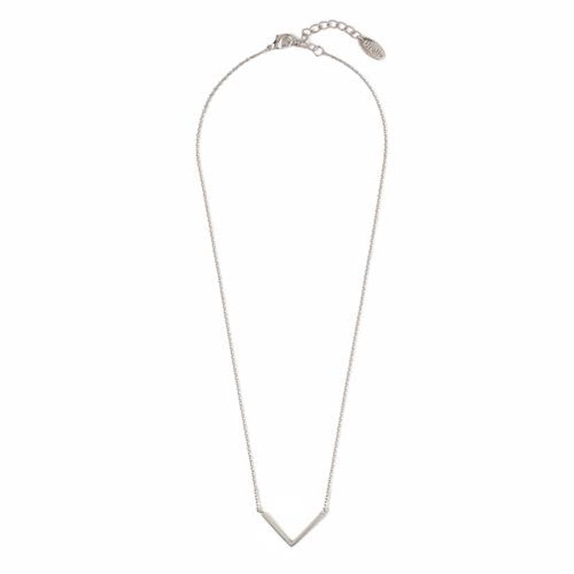Clean V Necklace Silver