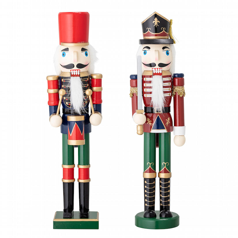 Set Of Two Large Toy Soldier Ornaments