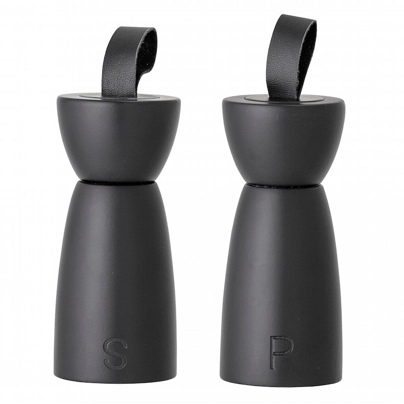 Salt and Pepper Mill Black Rubberwood