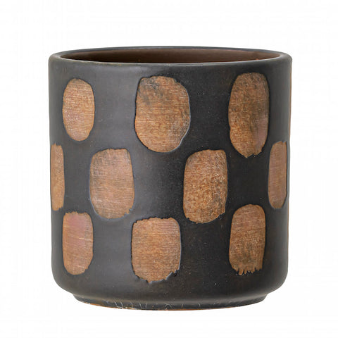 Deco Flowerpot Black Terracotta
