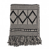 Recycled Cotton Throw Black