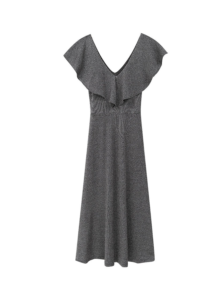 Agata Silver Grey Dress