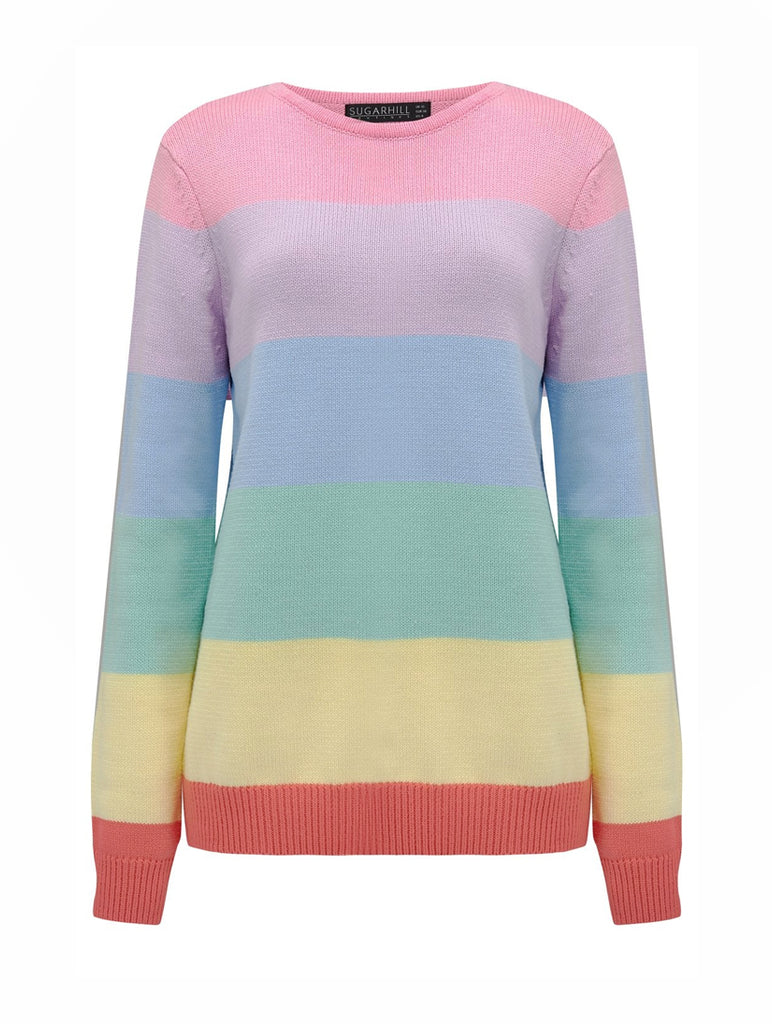 Ali Pastel Stripe Sweater