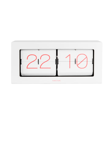 Large Boxed Flip Clock Coral