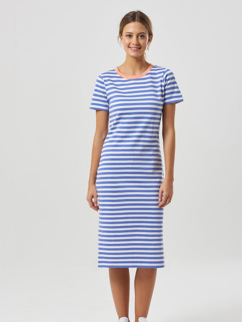 Brighton Midi Dress with Contrast Collar