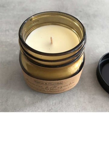 Scented Soy Candle Jar Jasmine and Magnolia