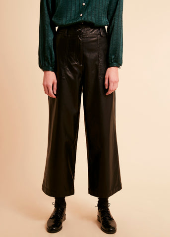Prunella Faux Leather Trousers