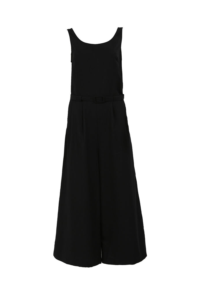 FRNCH black flared leg culotte jumpsuit