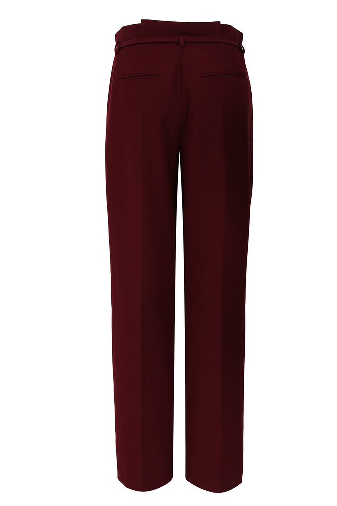 Wine Paperbag Waist Trousers