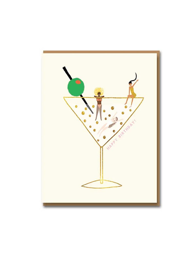 Have A Drink On Us Foil Greeting Card