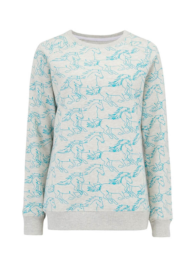 Laurie Running with Horses Sweatshirt