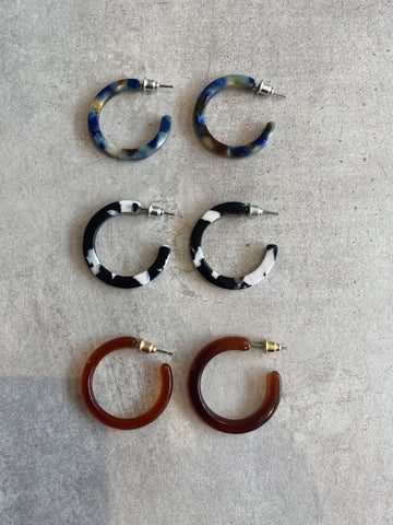 Ava Resin Hoop Earrings