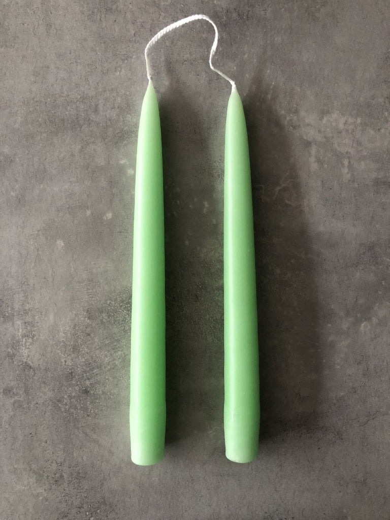 Standard Coloured Dipped Candle- Pastel Green