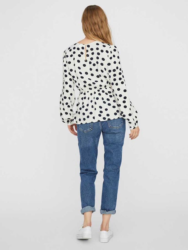 Kayla Spot Blouse Birch