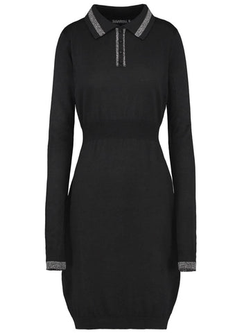 Liz Collared Knit Dress