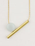 Asymmetrical Gem And Tube Necklace